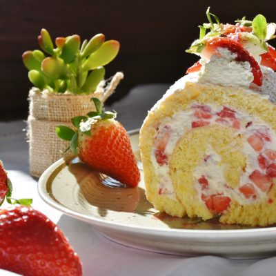 Erdbeerrolle